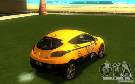 Renault Megane RS para GTA San Andreas traseira esquerda vista