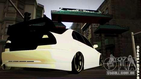 Mitsubishi Lancer Evolution 6 para GTA San Andreas traseira esquerda vista