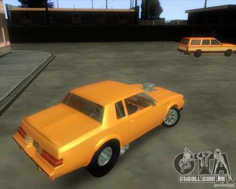 Buick GNX pro stock para GTA San Andreas vista traseira