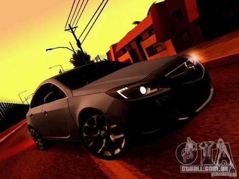 Opel Insignia para GTA San Andreas vista interior