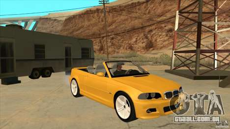 BMW E46 M3 Cabrio para GTA San Andreas vista traseira