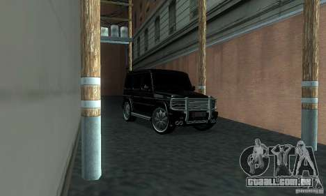 Mercedes Benz G500 ART FBI para GTA San Andreas vista direita