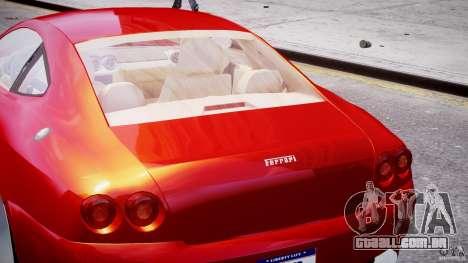 Ferrari 612 Scaglietti custom para GTA 4 interior