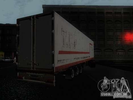 Reboque reefer para GTA San Andreas esquerda vista