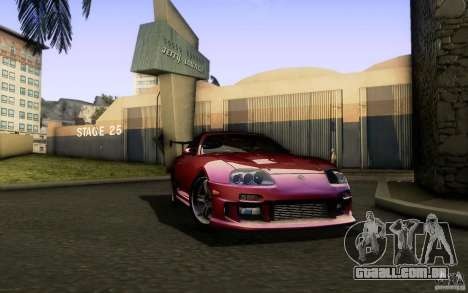 Toyota Supra Top Secret para GTA San Andreas vista traseira