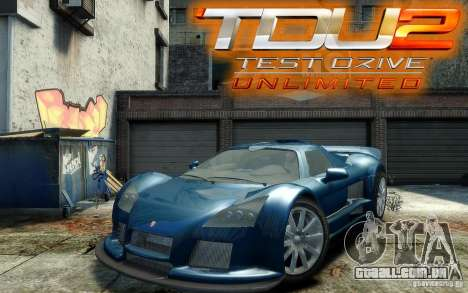 Gumpert Apollo Sport para GTA 4 vista de volta