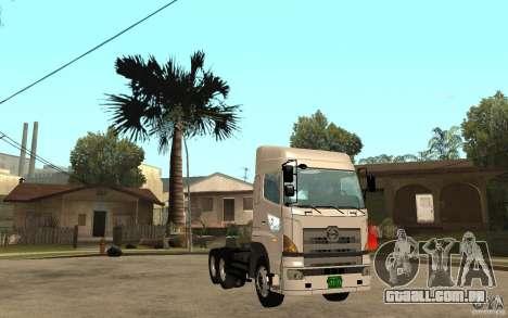 Hino 700 Series para GTA San Andreas vista traseira