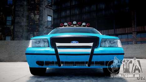 Ford Crown Victoria Classic Blue NYPD Scheme para GTA 4 interior