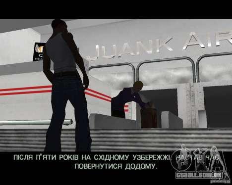 Ukraïnizator 2.0 para GTA San Andreas por diante tela