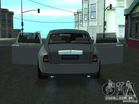 Rolls-Royce Phantom Limousine 2003 para GTA San Andreas vista traseira
