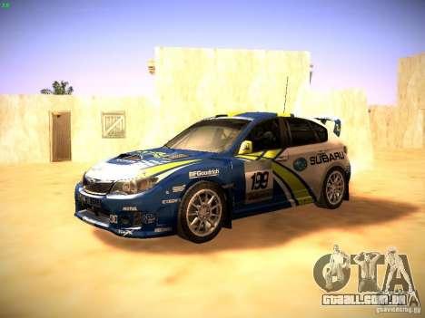 Subaru impreza Tarmac Rally para GTA San Andreas esquerda vista