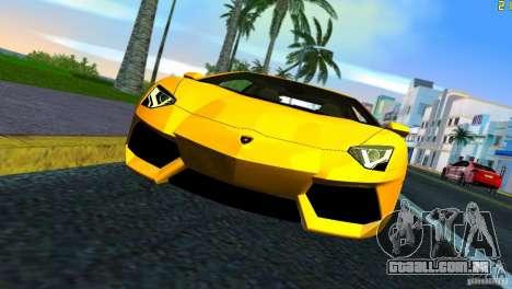 Lamborghini Aventador LP 700-4 para GTA Vice City vista traseira esquerda