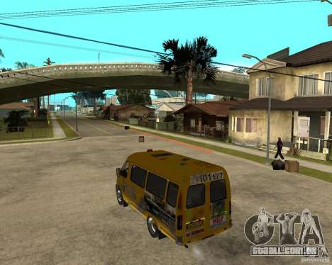 Gaz gazela 2705 Minibus para GTA San Andreas esquerda vista