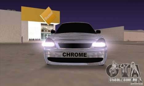 LADA 2170 Chrome para GTA San Andreas esquerda vista