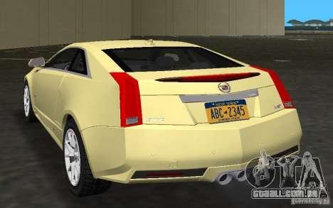 Cadillac CTS-V Coupe para GTA Vice City vista direita