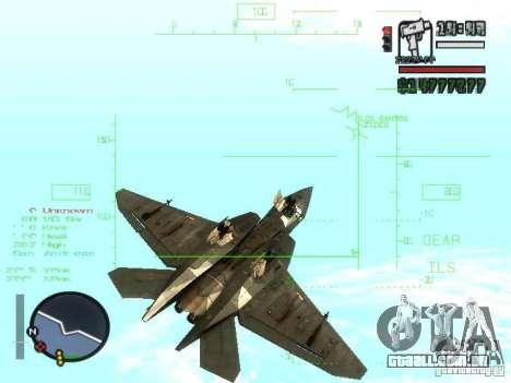 Xa-20 razorback para GTA San Andreas vista interior