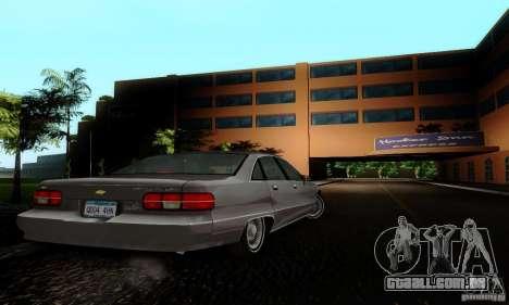 Chevrolet Caprice 1991 para GTA San Andreas esquerda vista