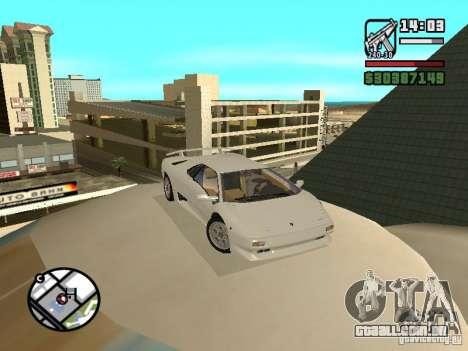 Lamborghini Diablo VT 1995 V2.0 para GTA San Andreas vista traseira