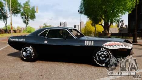 Plymouth Cuda 1971 [EPM] Mopar para GTA 4 esquerda vista