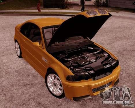 BMW M3 E46 stock para GTA San Andreas vista superior