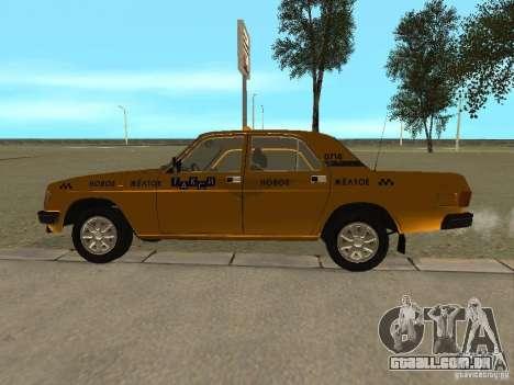 GAZ 31029 Taxi para GTA San Andreas traseira esquerda vista