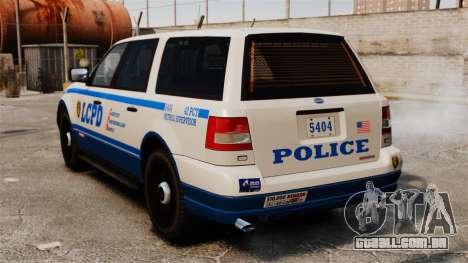 Polícia Landstalker ELS para GTA 4 traseira esquerda vista
