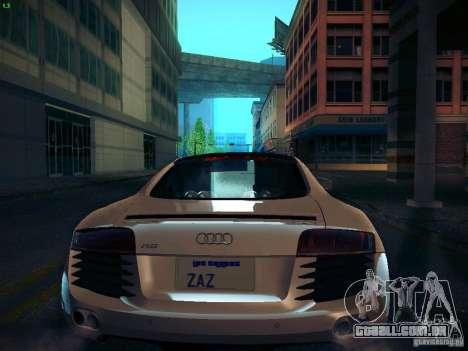 Audi R8 V10 para GTA San Andreas vista traseira