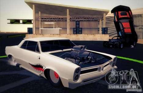 Pontiac GTO Drag Shark para GTA San Andreas vista interior