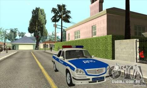 GAZ 31105 Volga DPS para GTA San Andreas vista traseira