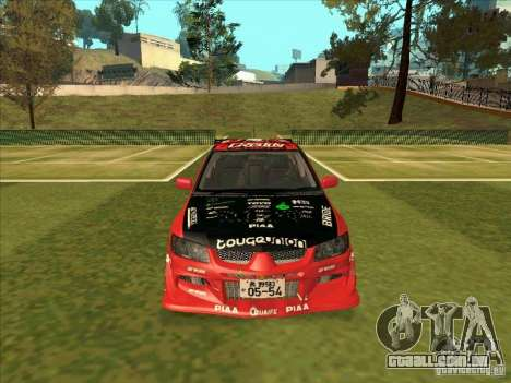 Mitsubishi Evo 9 Touge Union para GTA San Andreas vista traseira