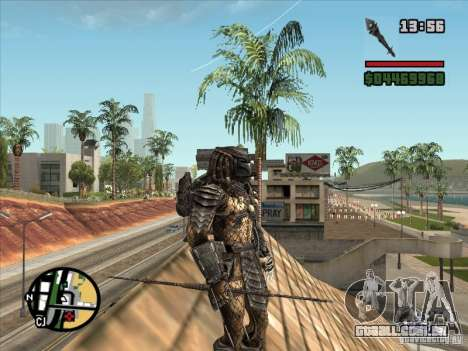 A lança de predador para GTA San Andreas por diante tela