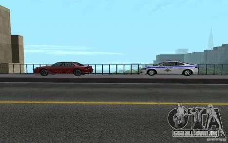 Polícia sobre a ponte de San Fiero_v. 2 para GTA San Andreas sexta tela