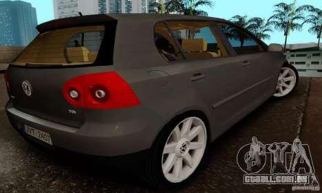 Volkswagen Golf 5 TDI para GTA San Andreas esquerda vista