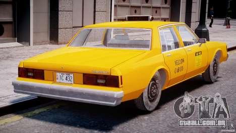 Chevrolet Impala Taxi 1983 [Final] para GTA 4 vista direita