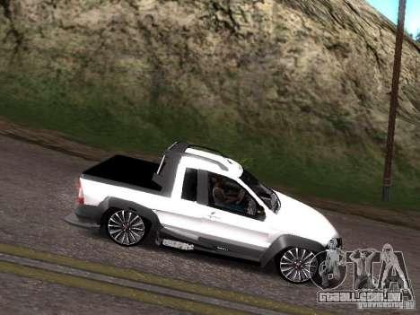 Fiat Strada para GTA San Andreas vista direita