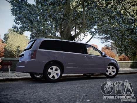 Dodge Grand Caravan SXT 2008 para GTA 4 vista direita