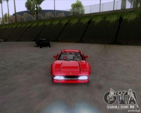 Ferrari 288 GTO para GTA San Andreas traseira esquerda vista