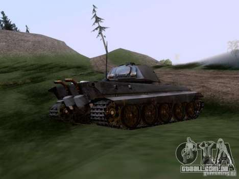 VII PZ II tigre tigre real VIB para GTA San Andreas traseira esquerda vista
