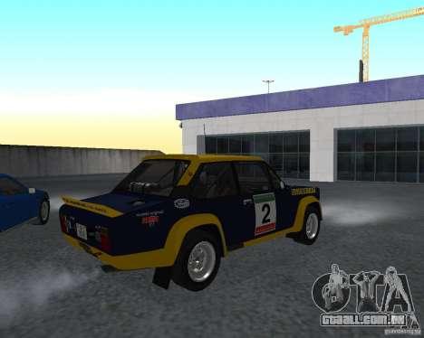 Fiat 131 Rally para GTA San Andreas traseira esquerda vista