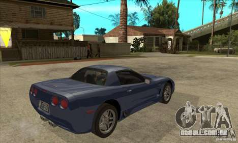 Chevrolet Corvette 5 para as rodas de GTA San Andreas