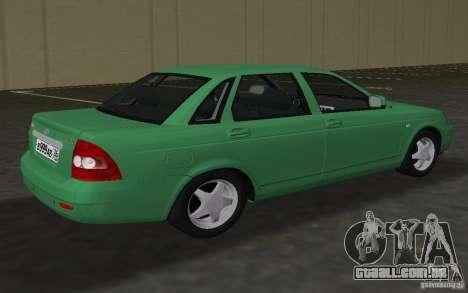 Lada 2170 Priora para GTA Vice City vista traseira