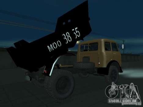 Caminhão de descarga MAZ 503a para GTA San Andreas vista direita