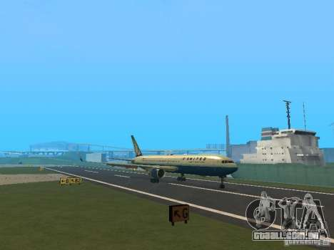 Boeing 767-300 United Airlines New Livery para GTA San Andreas esquerda vista