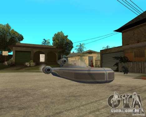 X34 Landspeeder para GTA San Andreas vista direita