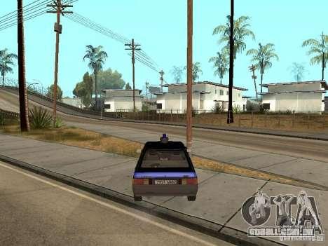 Patrulha AZLK 21418 para GTA San Andreas traseira esquerda vista