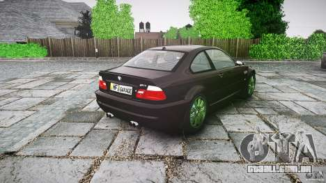BMW M3 e46 2005 para GTA 4 vista lateral