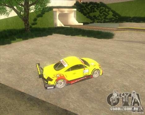 Audi TTR DTM racing car para GTA San Andreas esquerda vista