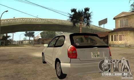 Toyota Corolla G6 Compact E110 JP para GTA San Andreas traseira esquerda vista