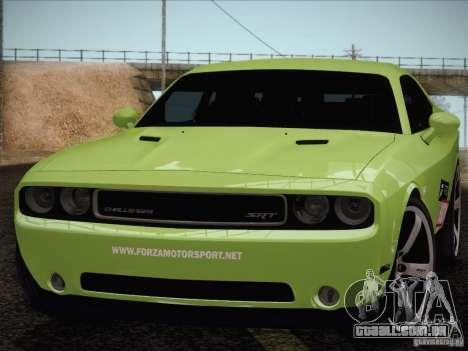 Dodge Challenger SRT8 2010 para GTA San Andreas vista direita