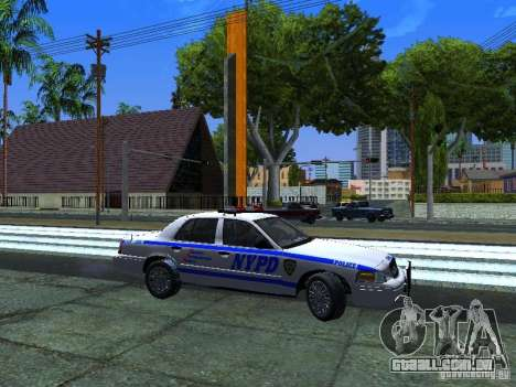 Ford Crown Victoria 2009 New York Police para GTA San Andreas esquerda vista